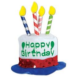 happy birthday cake hair clip