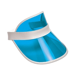 Clear Plastic Dealer's Visor - Blue