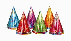 prismatic party hats
