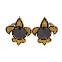 Black and Gold Fleur De Lis Fanci Frames