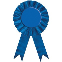 blue rosette award ribbon