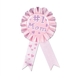 cerise #1 mom rosette ribbon