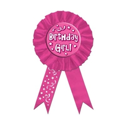 cerise birthday girl rosette ribbon