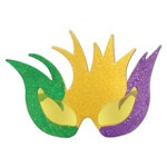 Glittered Mardi Gras Mask Fanci-Frames