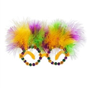 Feathers & Gems Mardi Gras Glasses