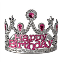 plastic happy birthay tiara