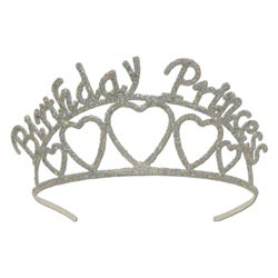 glittered birthday princess tiara