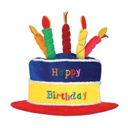 plush happy birthday cake hat