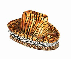 animal print cowbow hat