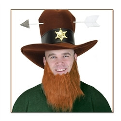 Brown Beard Costume Accessory
