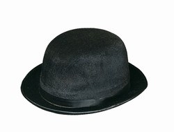 Black Vel Felt Derby