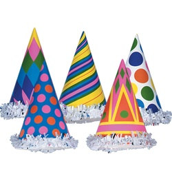 Fringed Party Hats - be prepared for any party!