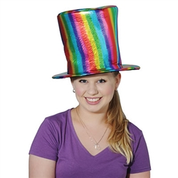 Fabric Rainbow Hat