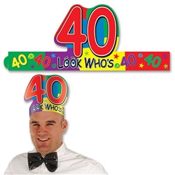 look who's 40 headband