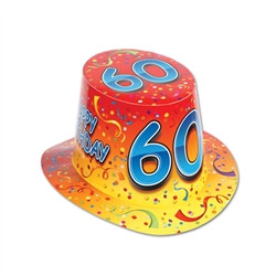 orange happy 60 birthday hi-hat