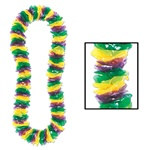 Soft-Twist Mardi Gras Poly Leis (sold 100 per box)
