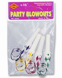 Party Blowout Noisemakers (4/pkg)