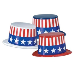 Assorted Patriotic Plastic Topper Hats