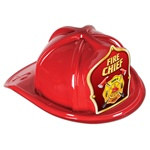 Red Fire Chief Hat (Red Shield)