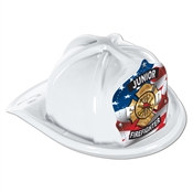 White Junior Firefighter Hat
