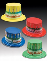 assorted happy birthday cake top hats