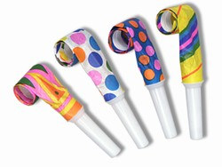 Planning a big party wthat will make alot of noise?  Get these 100 per box Party Blowouts.