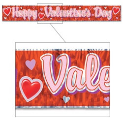 Red Metallic Valentine Banner