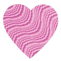 Pink Embossed Foil Heart Cutout