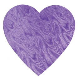 Purple Embossed Foil Heart Cutout