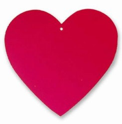 Red Foil Heart Cutout