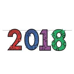 2018 Glittered Streamer