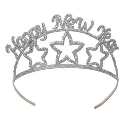 Glittered Happy New Year Tiara