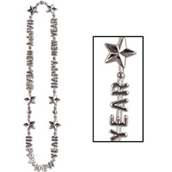 Silver Happy New Year Beads of Expression