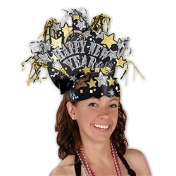 Gold and Silver Glittered New Year Headdress