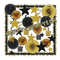Glistening Gold New Year's Eve Decorating Kit
