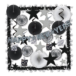 Shimmering Silver New Year's Eve Decorating Kit