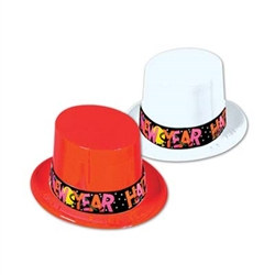 Plastic New Year Topper Hats (1/pkg)