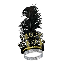 Black and Gold Swing New Years EveTiara