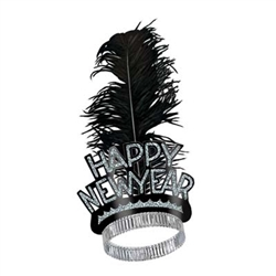 Black and Silver New Years Swing Tiara