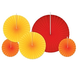 Accordian paper Fane in Red, Yellow and Orange