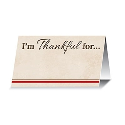 I'm Thankful For... Place Cards