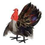 3-D Feather Turkey Decoration (1/pkg)