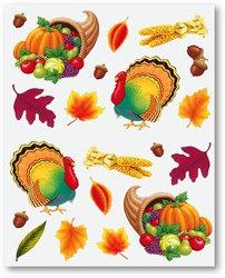 Thanksgiving Stickers (4 sheets/pkg)