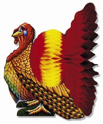Madras Turkey Centerpiece 12 inches