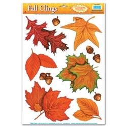 fall leaf window clings