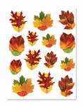 Autumn Leaf Window Clings (14/sheet)