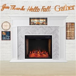 This 3 in 1 streamer set will add a warm glow to your Thanksgiving celebration.