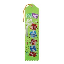 purple happy birthday ribbon