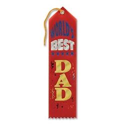 red world's best dad award ribbon