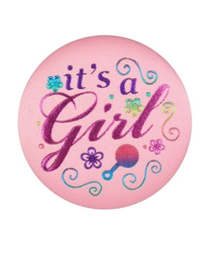 Its A Girl Satin Button
